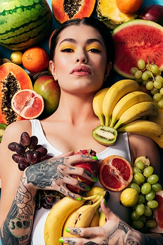 Women Photoshoot With Fruits Captured by Steffen Sharikov