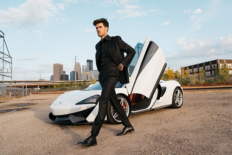 Young Man Posing Infront of Car Captured by Steffen Sharikov - Fashion Photographer Minneapolis