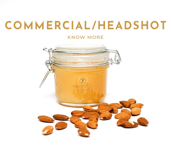 Honey in a Jar and Almonds on the Floor - Marketing Photography Chaska - Commercial Photographer